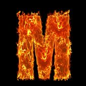 Burning Alphabet M