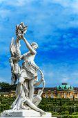 Woman sculpture in Castle Park Sanssouci in Potsdam, Germany