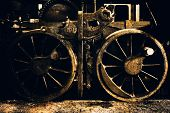 image of train-wheel  - an old steel train wheels vintage detail - JPG
