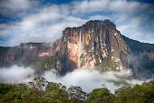 Closeup of the highest waterfall on Earth - Angel Falls