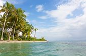 stock photo of deserted island  - Deserted Starfish beach on the archipelago Bocas del Toro - JPG