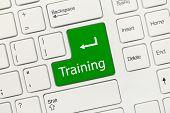 White Conceptual Keyboard - Training (green Key)