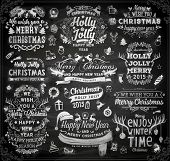 image of chalkboard  - Christmas decoration collection  - JPG