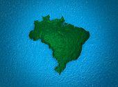 Brazilian map stylized