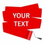 roller brush for text