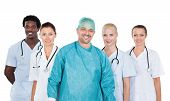 Group Of Happy Multiracial Doctors