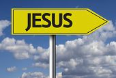 Creative sign with the message - Jesus