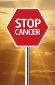 Creative sign with the message - Stop Cancer