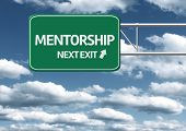 Creative sign with the text - Mentorship, Next Exit