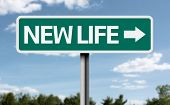Creative sign with the text - New Life