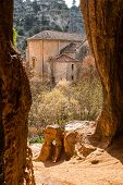 pic of templar  - view of a Templar chapel from inside a cave - JPG