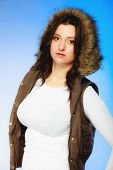 stock photo of plus size model  - Winter fashion - JPG