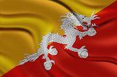 Amazing Flag of Bhutan , Asia