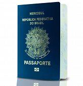 New Brazilian Passport isolated on white