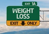 Creative Weight Loss Exit Only, Road Sign