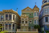 Classic victorian houses in San Francisco, California, USA