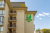SAN FRANCISCO, CA - SEP 20: Holiday Inn Hotel on September 20, 2013 in San Francisco. Holiday Inn is a multinational brand of hotels forming part of the British-based InterContinental Hotels Group