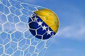 Amazing Goal with Soccer Ball of Boznia and Herzegovina - Europe