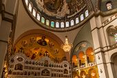 SAO PAULO, BRAZIL - OCTOBER 20, 2013: Interior of Orthodox Cathedral in Sao Paulo, Brazil. The cathedral is one of the largest Eastern Orthodox cathedrals in the world located in Vergueiro, Paraiso.