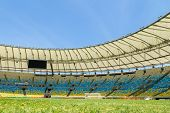RIO DE JANEIRO, BRAZIL - NOV 03: The new Maracana Stadium on November 03, 2013 in Rio de Janeiro, Brazil. Maracana was remodelled for the World Cup of 2014 from Fifa.