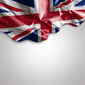 Waving flag of Uk - United Kingdom ( Europe )