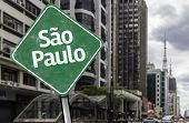 Sao Paulo Sign on Paulista Avenue, Brazil