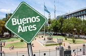 Buenos Aires Sign on Plaza Mayo, Argentina