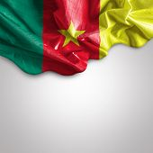 Waving flag of Cameroon, Africa