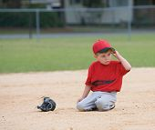 Young Little League Player