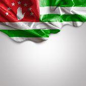 Waving flag of Abkhazia