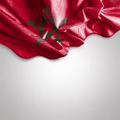 Waving flag of Morocco, Africa