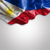 Waving flag of Philippines, Asia