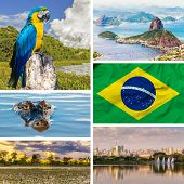 Set with some images of Brazil, South America