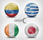 Group C - Colombia, Greece, Ivory Coast, Japan (Brazil)