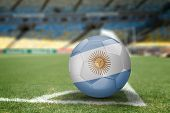 Argentina soccer ball on the soccer field