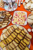 image of reveillon  - Colorful table with many delicious for the kids - JPG