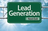 Lead Generation road sign on a beautiful day