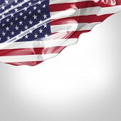 Waving flag of USA - United States of America