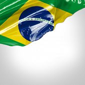 stock photo of bandeiras  - Waving flag of Brazil - JPG