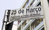 25 Marco sign in Sao Paulo, Brazil