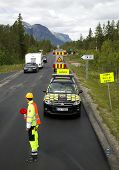 Repair of roads in mountains of Norway