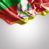 Waving flag of the State of Rio Grande do Sul in Brazil