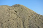 image of sand gravel  - Pile of green gravel  - JPG