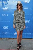 American model and actress Bridget Moynahan at the red carpet before US Open 2014 opening night