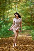 Barefoot Woman In The Forest