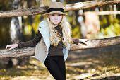Portrait Fashionable Teen Girl, Blonde