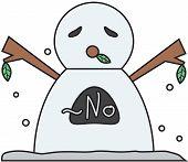 vector winter snowman face cartoon emotion expression no