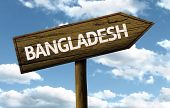 Bangladesh wooden sign on a beautiful day