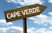 Cape Verde wooden sign on a beautiful day