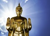 Golden Buddha on a beautiful day